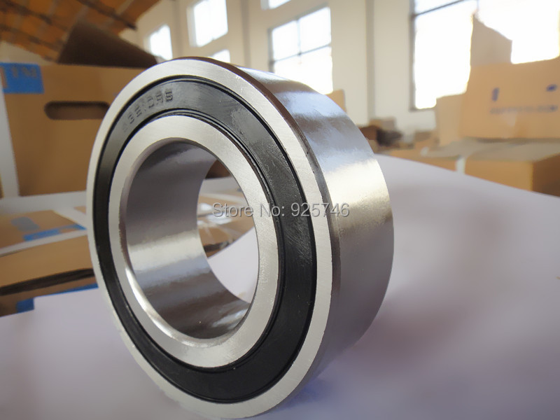 s5211 2RS  Stainless Steel  Double Row Angular Contact Ball Bearings s3211 2RS size:55X100X33.3mm stainless steel angular contact ball bearing 7208 s7208 40x80x18