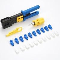 103pcs/set Repair Screwdriver RJ45 Strain Relief Professional Cable LAN Crimp Stripper Cutter Network Tool Kit RJ12 Portable