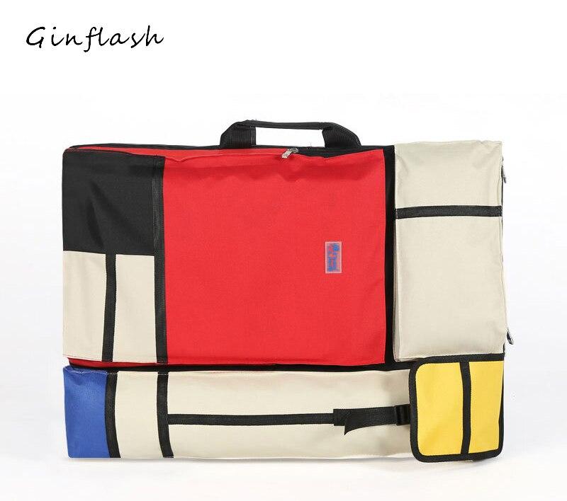 купить 4k colorful fashion Portable Painting Board Bag Carry Case Drawing easel bag Waterproof Board Carrying Sketchpad Bag недорого