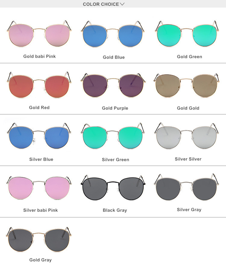 Mirror Round Sunglasses Men Women7