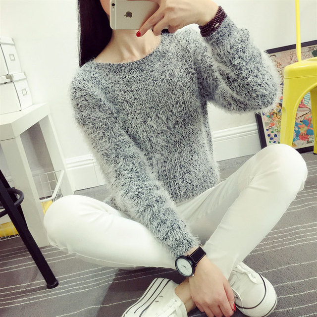 Mohair O-Neck Sweaters
