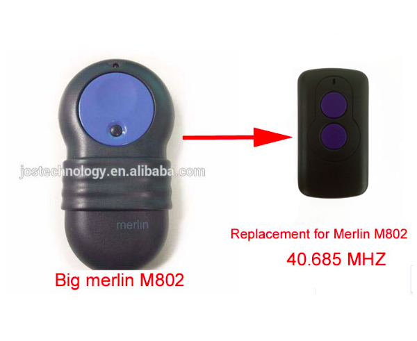 Merlin M802 GARAGE DOOR OPENER REMOTE CONTROL REPLACEMENT 802