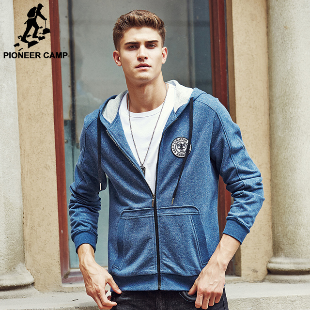 Pioneer Camp Men's Hoodie brand clothing Fashion Casual Men Hooded Jacket Mens autumn Coat Casual Jackts Male Sweatshirts 699024
