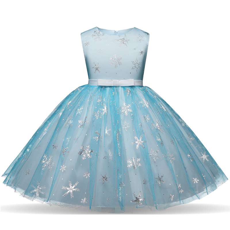 3- 10 Years Fancy Princess Dresses For Wedding Halloween Party Costume Kids Party Birthday Dress Girls Holiday Snowflake Clothes girls dresses trolls poppy cosplay costume dress for girl poppy dress streetwear halloween clothes kids fancy dresses trolls wig