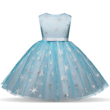 39a5518e10ddb Fancy Cosplay Princess Wedding Halloween Party Costume Baby Girls Christmas  Gown Xmas Kids Snowflake Clothes Children's