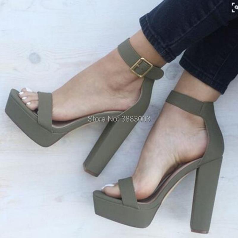 Новые летние модные женские босоножки на платформе; модельные туфли с ремешком на лодыжке с открытым носком и пряжкой на блочном каблуке; мо... - 2