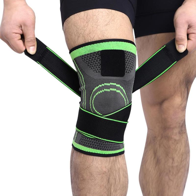 Professional Knee Protectiion Basketball Sports Knee Pad Breathable Bandage Tennis Cycling Kneepad Brace Support