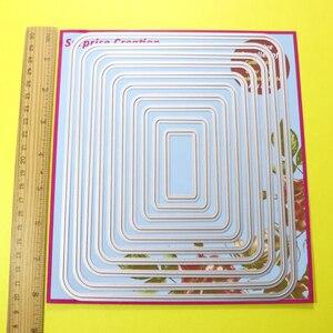 Image 4 - 2 Set Large Cutting dies Round Corner Rectangle & Square Cardmaking Scrapbook DIY Craft Surprise Creation dies