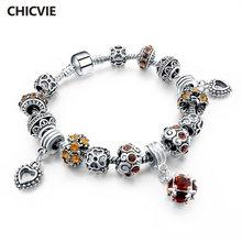 Женский браслет в форме сердца chicvie из нержавеющей стали
