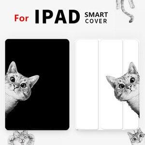 Image 2 - Czarny kot przerzuć pokrywa dla iPad Pro 9.7 przez 11 10.5 12.9 10.2 2020 Mini 2 3 4 5 2019 Tablet etui dla nowego ipada 9.7 6th 2017 2018