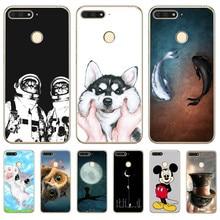 Luxury Mickey Animal For huawei Y5 II Y6 II Y5 Y6 Prime Nova 2 3 3I Plus 2018 2017 phone case Cover pattern Coque Etui Women Men все цены