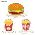 Funny  Hamburger/Popcorn Shape Crossbody Bag Small Crossbody Bags For Women Cute Purse Handbags Chain Messenger Bags Party Bags