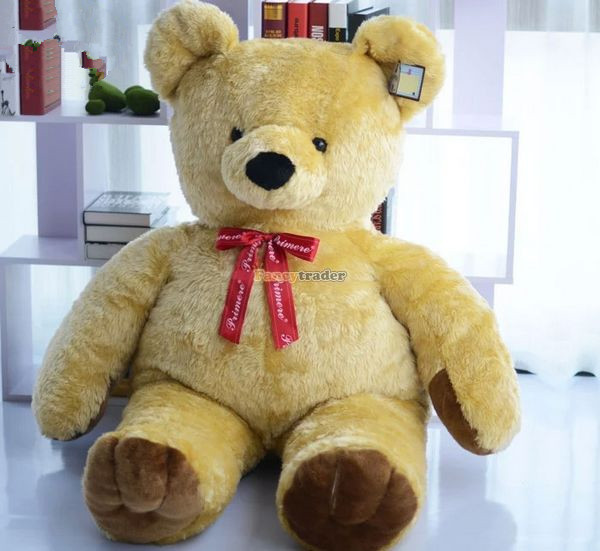 Fancytrader Best Selling 63'' / 160cm Giant Plush Stuffed Golden Yellow Teddy Bear Toy, Nice Gift, Free Shipping FT50432 teddy bear c h3 r yellow