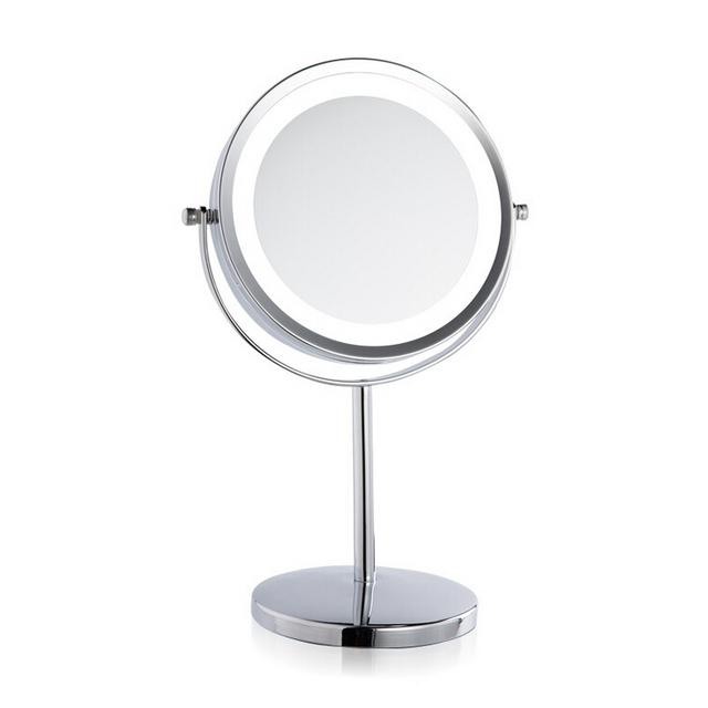 7 pulgadas 3x de ampliación Circular led espejo de maquillaje doble 2 forma redonda cara de espejo de aumento espejo de pie para maquillaje