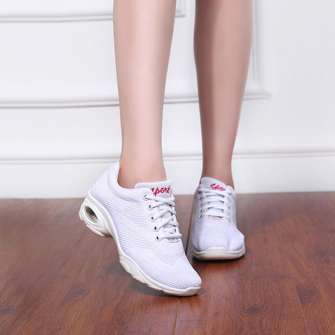 Sneakers Airbag Bottom Square Dance Shoes Sports Adult Fitness Shoes Modern Dance Fabric Women Shoes Dance Sports Ladies Shoes Karachi