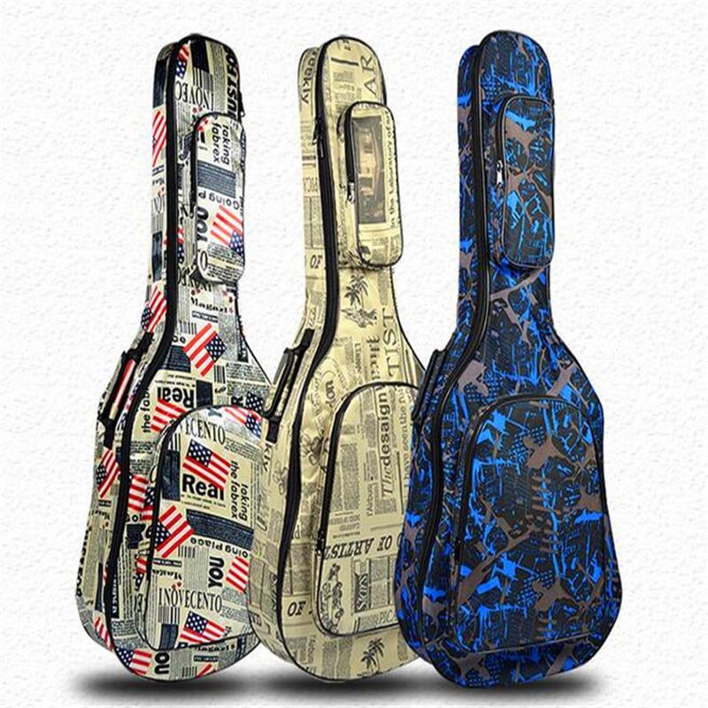 Folk guitar bag 40/41 inch Acoustic guitar bag Thickening sponge Portable & Backpack wooden guitar accessories waterproof bag yusuf cat stevens brisbane