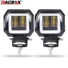 Worklight Beams 3 20W Lamp Driving Headlights Fog Daytime Running lights New 7D For Cars Motorcycle Halo Jeeps ATV 12V 24V SUV