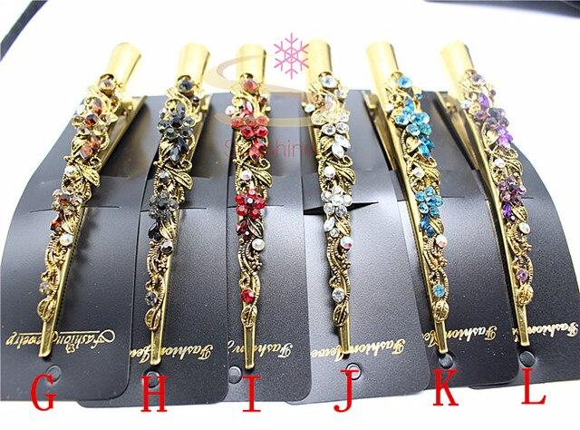 1pcs Fashion Hairwear Flower Rhinestone Headband  Elegant  Hair Pin Girls  Hair Clip Hair Jewelry Plant Accessories 1649-1
