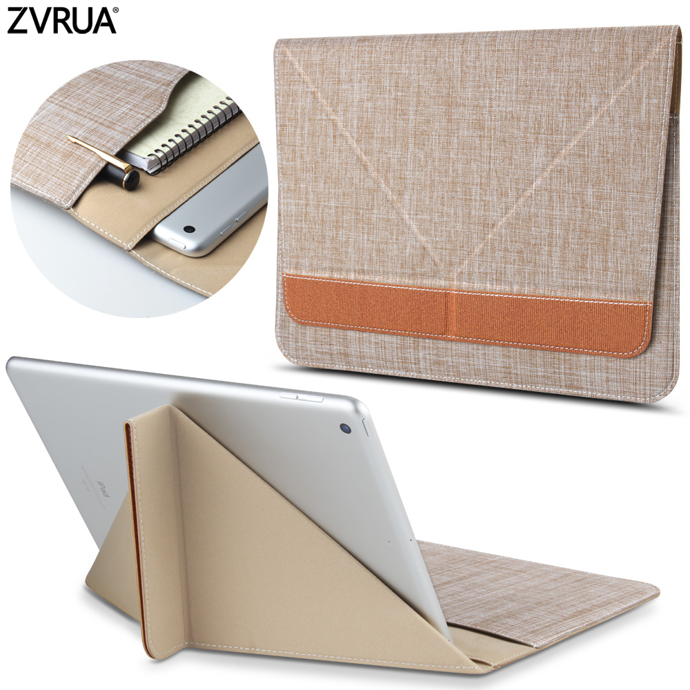 ZVRUA High quality New 2017 2018 Tablet Cover Sleeve Bag with stents for iPad Air 1 / 2 / Pro 9.7 inch high quality new driver side airbag cover for glk w204 glk300 glk350 airbag cover dab cover with logo