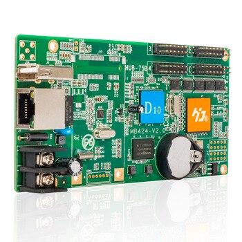 Đầy đủ màu sắc HD-D10 LED MODULE điều khiển thẻ 4 * HUB75 không đồng bộ dữ liệu giao diện có lớp lót Video RGB hình đèn LED hiển thị điều khiển thẻ