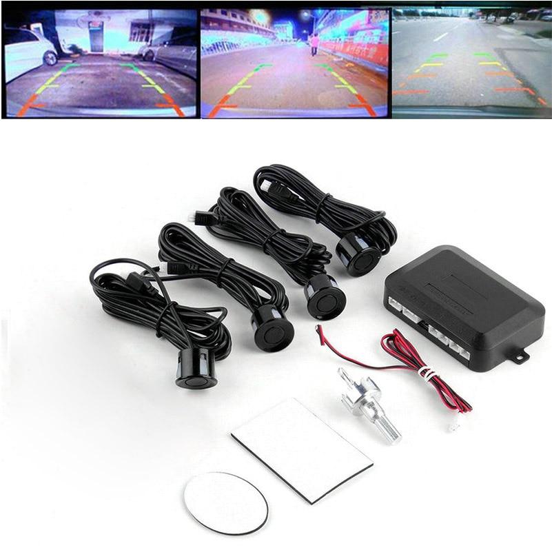 Автомобильный Обратный радар автосигнализации портативный обратный радар 4 парковочные датчики Авто Обратный радар безопасный регулируемый