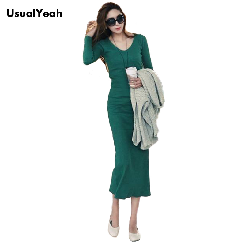 Women long sleeve V long Knitted Dresses Maxi Casual Dress Black S M L XL XXL meifeier 407 women s fashionable knitted chiffon blouse apricot l