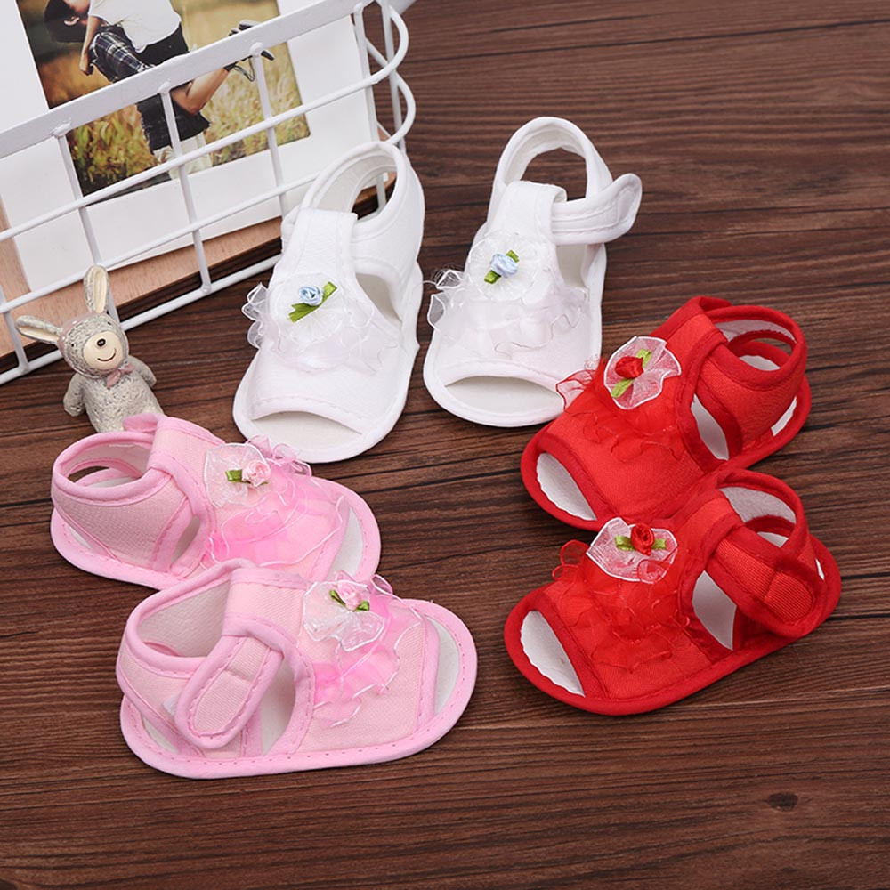 SZYADEOU 2019 Newborn Infant Baby Girls Crib Shoes Soft Sole Anti-slip Sneakers Flower Sandals сандали  Wholesale L4