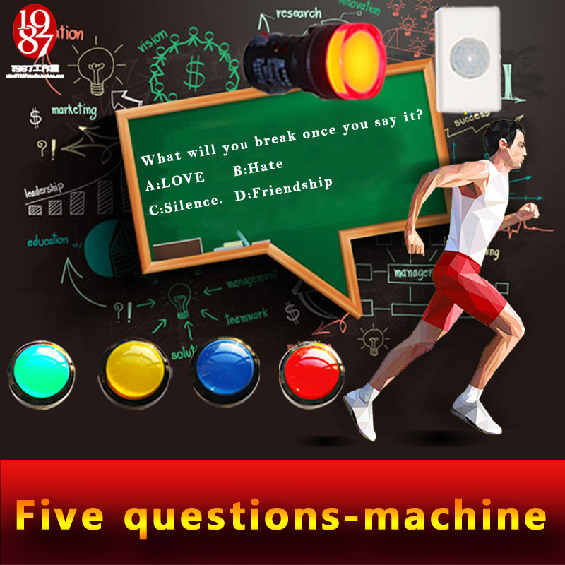 Real room escape game prop jxkj-1987 question-machine question and answer machine answer the questions to open lock ...