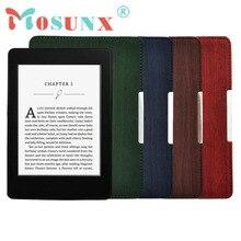 Delgada de LA PU Cubierta Elegante de Cuero Para Amazon Kindle Paperwhite Dormir/Activación de DICIEMBRE 26