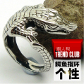 High quality Punk Vintage animal alligator rings 316L Titanium steel Rock gothic Finger Ring Fashion men's Jewelry bijouterie