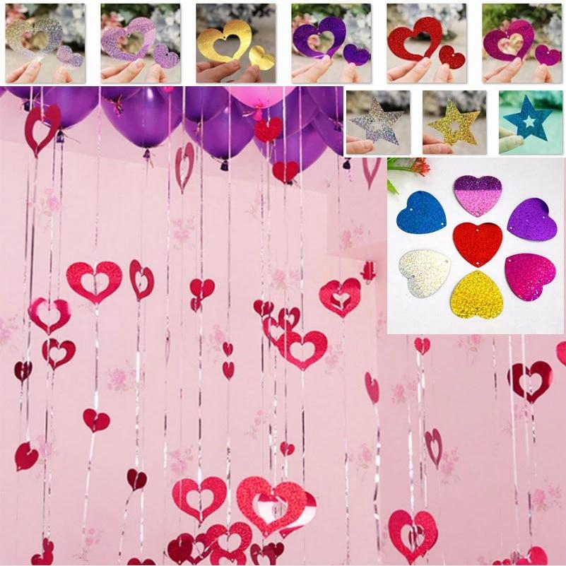 Laser Pendants Romantic Wedding Decorations Event Party Supplies Ballons Accessories Xo Heart Star 10000pcs Wholesale Wholesaleparty Aliexpress