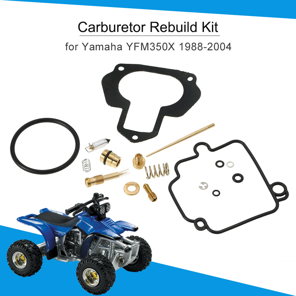 carburetor repair kit carb rebuild kit for yamaha warrior 350 yfm350x 1988 2004 [ 1000 x 1000 Pixel ]