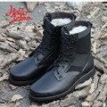 Hellozebra Сапоги Мода Черный Теплый Середины Икры Сетки Воздуха Открытый Мужчины Combat Tactical Дышащий Пешие Прогулки Обувь 2016 Зима Новый дизайн