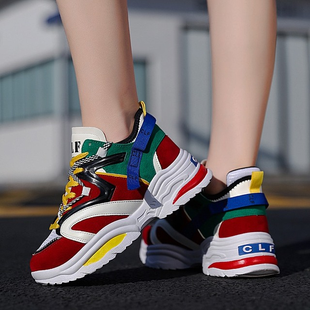 5049c1d5ad0 Stylish Sports Walking women Running Shoes men Increasing INS Ulzza  Harajuku Sneakers Cushioning Height Platform Breathable Wave
