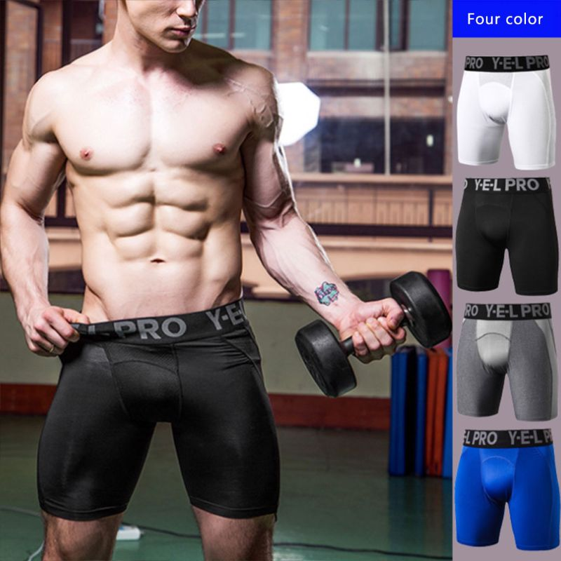 Men's Breathable Mesh Patchwork Sport Compression Shorts Letters Print Ultra Wide Elastic Waistband Cool Dry Tights Leggings New