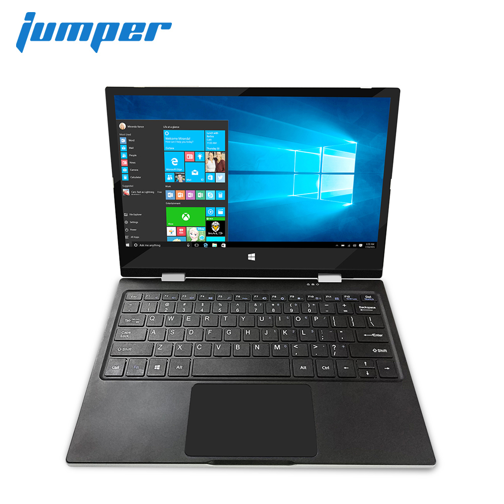 "Jumper EZbook X1 11.6"" FHD IPS Touchscreen laptop Intel Gemini Lake N4100 notebook 4GB DDR4 64GB eMMC 64GB SSD Windows 10 Metal"