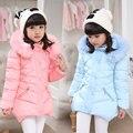 Criança meninas jaqueta de inverno longo de algodão acolchoado jaqueta de inverno casaco para as meninas roupas crianças grosso casacos com capuz jaquetas ao ar livre