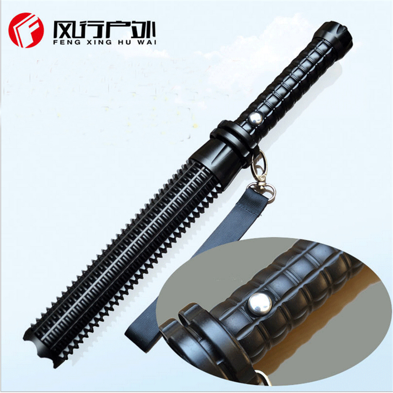 Q5/T6/L2 telescopic zoom mace stick baton flashlight security patrol self-defense charge 18650 led flashlights