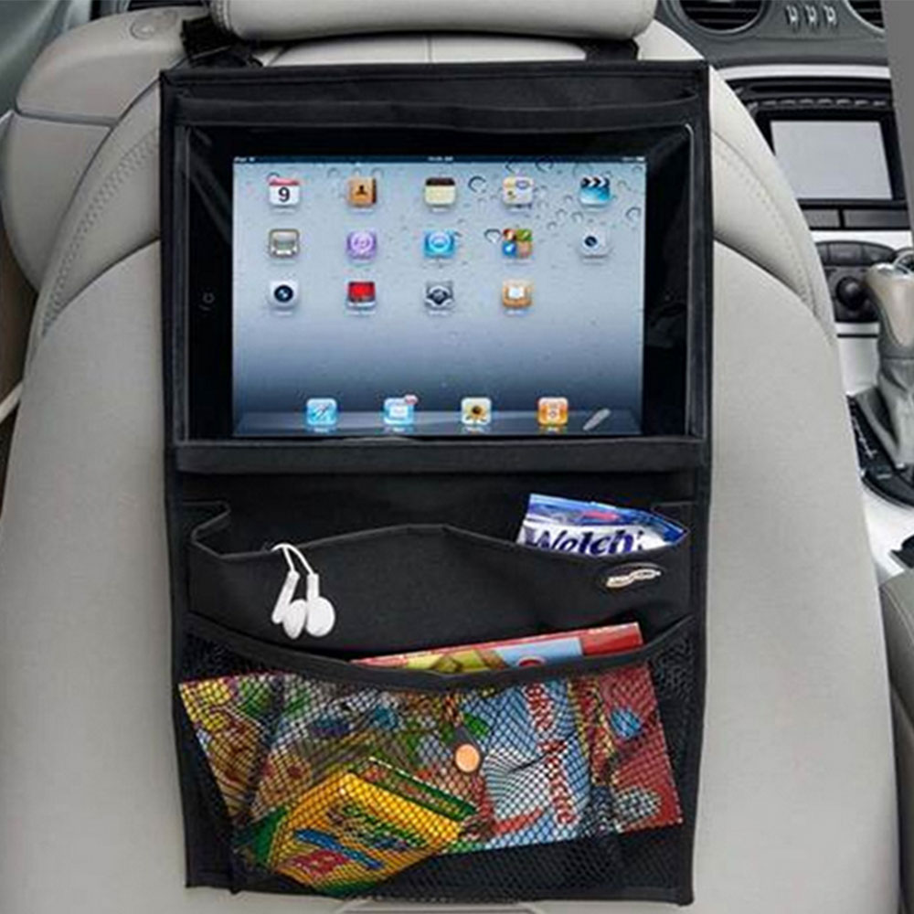 Car Back Seat Organizer Storage Bag Multi-use Tablet PC Stand iPad Holder Car-styling Stowing Tidying Trunk Universal 17