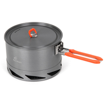 Outdoor Fire Maple Cooking System Stove Hiking Camping Equipment Oven Heat Collecting Exchanger Cup Camping Picnic Cooking Pot цена 2017