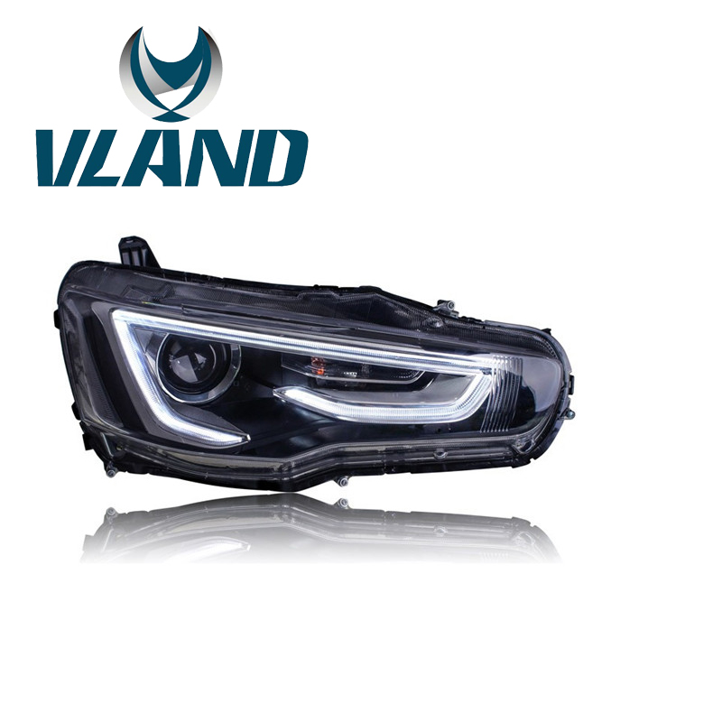 VLAND Factory for Car Auto Head Lamp + Tail Lamp For Lancer 2008 2010 2012 Lancer EX LED Taillight / Headlight with H7 Xenon