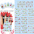 2015 NUEVO 50 Unids/lote BLE906-916 stickernew año y ChristmasNail Arte de uñas Slide Tatuaje Pegatina nail art calcomanías de agua