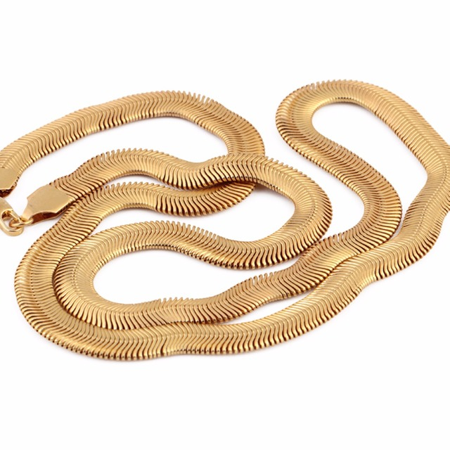 0.31 inch Fashion Gold-Plated Chain Necklace