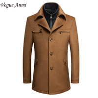 Vogue Anmi New Mens Winter Wool Coat Men Slim Fit Fashion Jackets Mens Casual Warm Outerwear