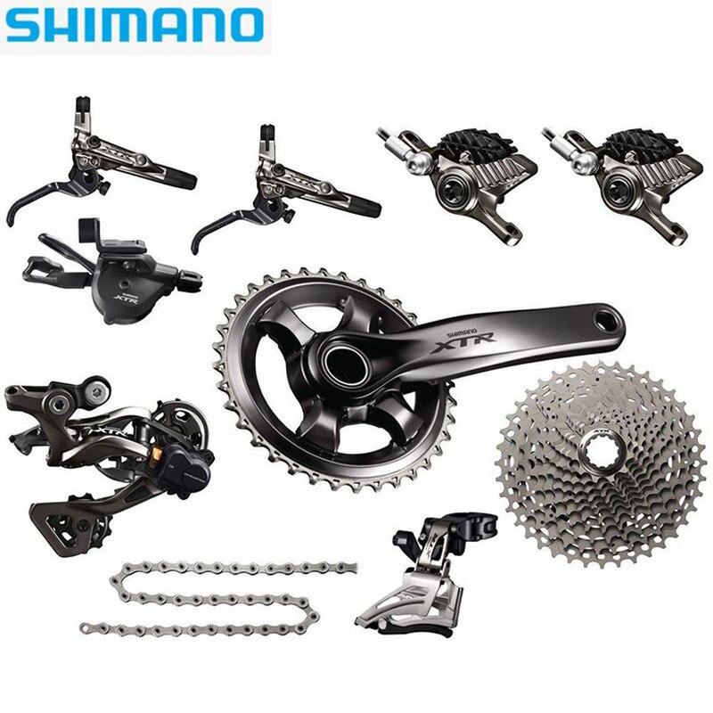 SHIMANO XTR M9000 VTT manette de vitesse dérailleur kit vilebrequin pignon frein 1/2/3X11 vitesse vélo pièces transmission kit