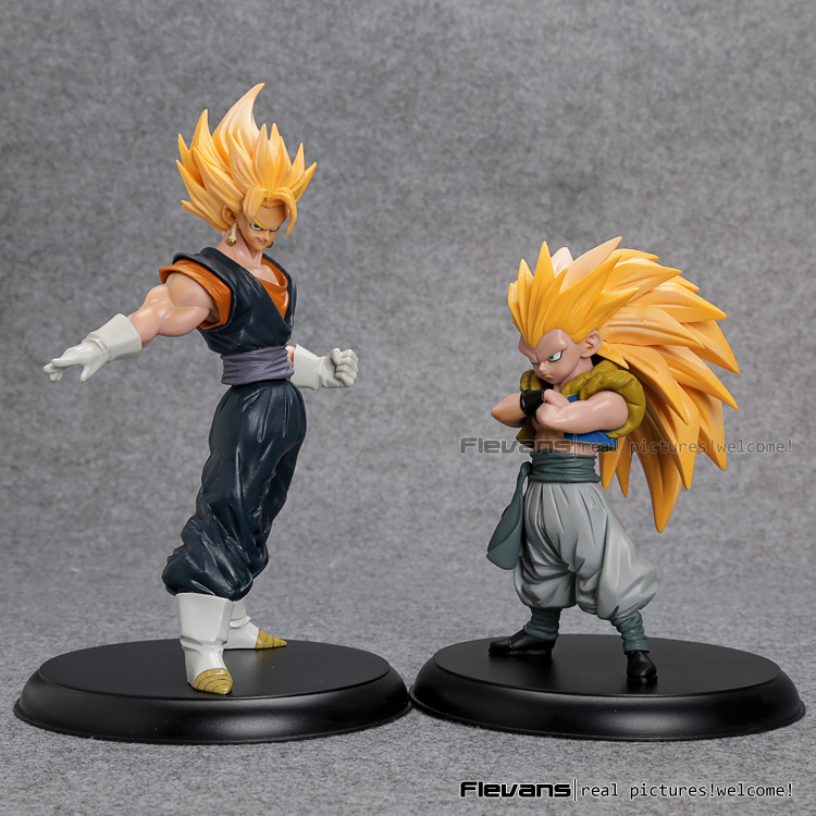 где купить Dragon Ball Z Super Saiyan Son Goku + Gotenks PVC Action Figures Collectible Model Toys 2pcs/set DBFG244 по лучшей цене