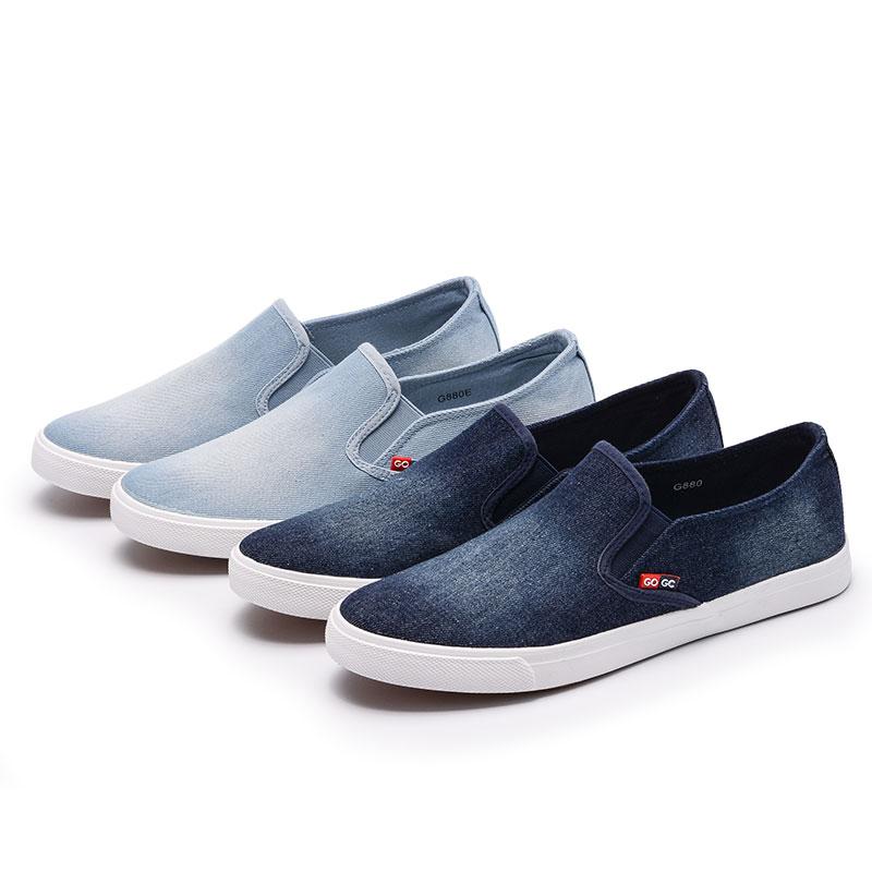 c76ddab6058a US $14.07 48% OFF|GOGC 2019 Arrival Slipony Men Fashion Men Sneakers Flats  Casual Shoes Denim Canvas Shoes Nice Comfortable Men Shoes Loafers 880-in  ...