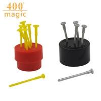 2Pcs/lot Spiked Coin Magic Nail To Wear Coin Magic Props Tricks Close Up Magie Toys 400 magic