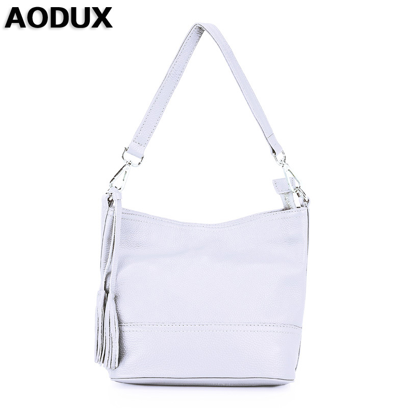 AODUX Girls Top Layer Genuine Cow Leather Small Bags Women Shoulder Bag Handbags Real Leather Crossbody Messenger Bags new women genuine leather handbags shoulder messenger bag fashion flap bags women first layer of leather crossbody bags
