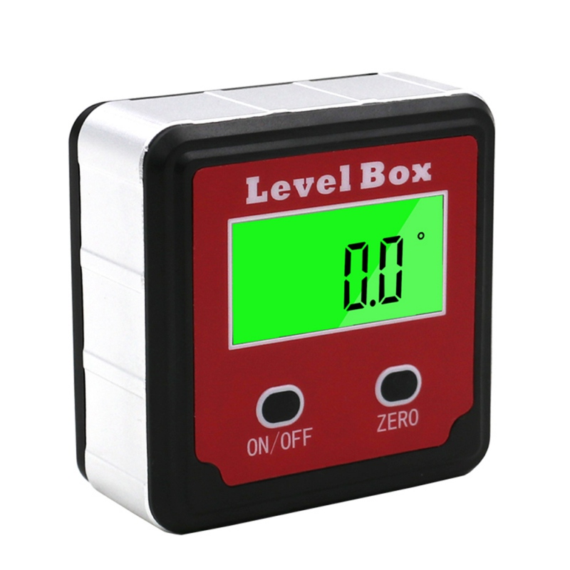 New Red Precision Digital Protractor Inclinometer Level Box Digital Angle Finder Bevel Box With Magnet Base